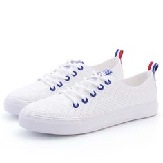 YGF New Fashion Women Shoes Casual White Flat Shoe Leather Lace Up Tenis Feminino Summer Breathable. Click visit to buy #Women #Vulcanize #Shoes #WomenShoes #VulcanizeShoes