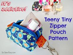 If you are fairly new to following along at So Sew Easy, then you might have missed this project from some time back so I thought you'd like to see what I've been sewing. I've been busily sewing away these teeny tiny zipper pouches for stocking stuffers and for handy … Continue reading →