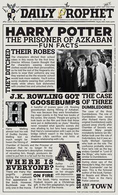 The Prisoner of Askaban – Laura-Blaise McDowell – Handwerk und Basteln Harry Potter Poster, École Harry Potter, Harry Potter Journal, Mundo Harry Potter, Harry Potter Tumblr, Harry Potter Pictures, Harry Potter Birthday, About Harry Potter, Harry Potter Newspaper