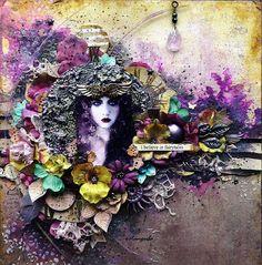 Mixed Media Место: Fairy макет сказка Juliya