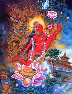 "arjuna-vallabha: "" Vajrayogini, newari painting """