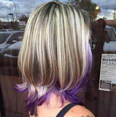 purple dip dye for brown blonde hair