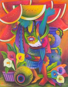 Venta de flores. Julian Coche Mendoza. San Juan La Laguna.  Guatemala.