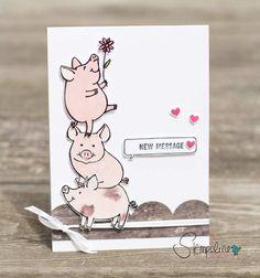 Stampin´ Up! Glücksschweinchen Swaps