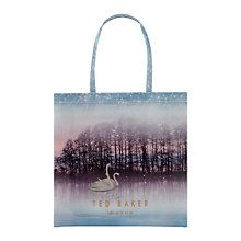 bd262cd83 ... Swanee Leather Sparkling Swan Print Matinee Purse
