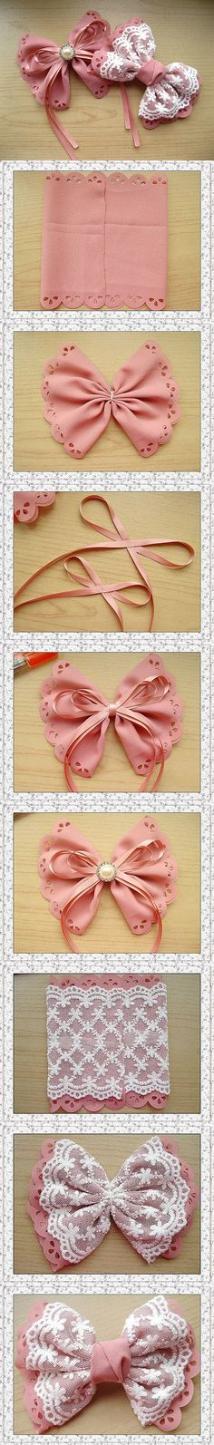 DIY hair bows by fiddle-dee-dee