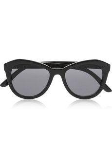 Le Specs Peach Pit cat eye acetate sunglasses | NET-A-PORTER