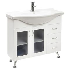 JADE 1000 SR BATHROOM VANITY GLASS DOORS & LEGS - The Sink Warehouse