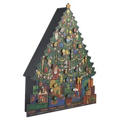 Advent Calendar Tree Count Down The Days To Christmas