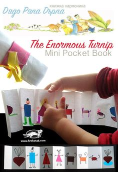The Turnip – An Accordion Pocket Booklet - could also use for The Very Hungry Caterpillar! Math For Kids, Diy For Kids, Crafts For Kids, Learning Activities, Kids Learning, Activities For Kids, Diy Paper Christmas Tree, Eyfs Classroom, Traditional Tales