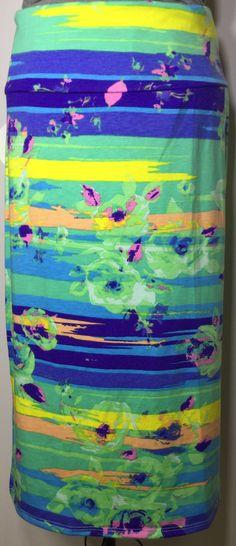 XL PENCIL skirt $27 item 0220153 lightweight spring colors mint blue yellow pink