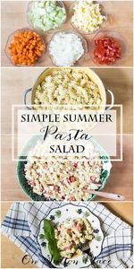 Simple Summer Pasta Salad | A family friendly recipe that makes enough to feed a crowd!