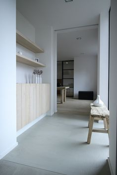minimal but warm atmosphere. Home Modern, Modern Country, Pharmacy Design, Love Your Home, Interior Design Inspiration, Built Ins, White Walls, Home And Living, Interior Architecture