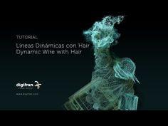 Líneas Dinámicas con Hair / Dynamic Wire with Hair C4D - YouTube