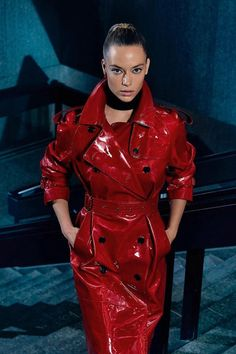 Red Raincoat, Raincoat Outfit, Vinyl Raincoat, Hooded Raincoat, Plastic Raincoat, Burberry, Long Leather Coat, Leather Jacket, Red Leather