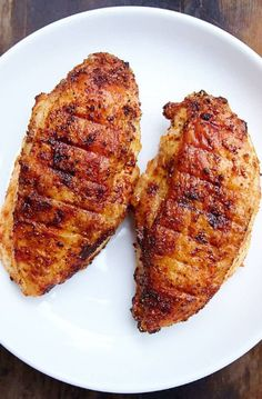 This air fryer chicken breast is seasoned with sesame oil and spices, then cooked to perfection in a little gadget that I never thought I'd enjoy this much.