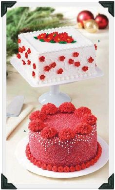 Red cakes