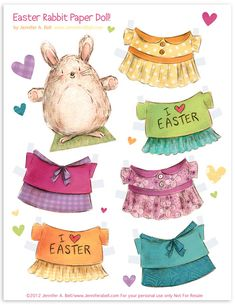 Easter Paper Bunny to dress up! FREE printable | by J. Bell Studio