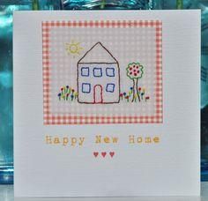 New Home Handmade Card designed by Karen Scott, found on Folksy