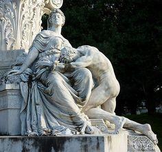 Detail - The Goethe Monument. Gustave Eberlein. 1847-1926. Villa Borghese - Rome, Italy