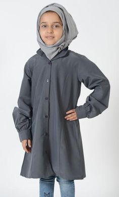 Girls Uniform Button Down Tunic was $39.99 now $19.99 only save $20 East Essence Girls Uniforms, Kids Outfits, Kids Fashion, Raincoat, Tunic, Button, Casual, How To Wear, Jackets