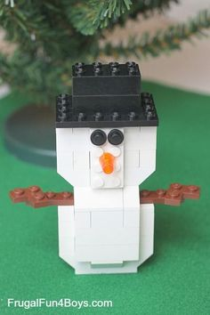 Lego Snowman with instructions
