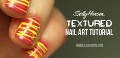 The Nailasaurus: Sally Hansen Textured Nail Art Tutorial: Sugar Spun Nail Art