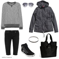 Vegan outfit featuring J Brand shorts, Rag & Bone sweatshirt, H&M jacket, Superga sneakers, and Marc by Marc Jacobs accessories