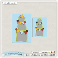 Quality DigiScrap Freebies: Daily Life Journal Card Template 50 freebie from Scrapping with Liz