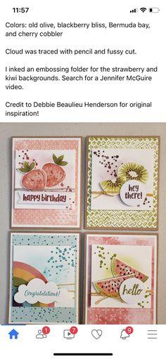 Birthday Cards, Happy Birthday, Stampin Up Paper Pumpkin, Pumpkin Cards, Cherry Cobbler, Craft Cards, Pumpkin Ideas, Stamping Up Cards, Embossing Folder