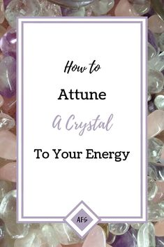 Three Simple Ways to Attune a Crystal to your Energy Crystal healing is more powerful and effective when using a crystal attuned to your energy. Check out this post for three easy ways to form a connection with a new crystal Chakra Crystals, Crystals And Gemstones, Stones And Crystals, Healing Crystals, Self Treatment, Reiki Therapy, Learn Reiki, Reiki Symbols, Larissa Reis