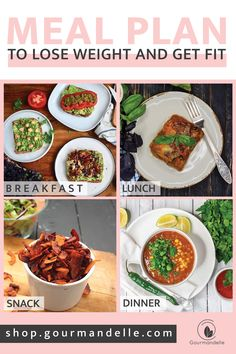 """No more planning meals and asking yourself """"What's for dinner tonight?"""" This weight-loss meal plan comes with delicious recipes, budget-friendly grocery lists, video workout programs. No barbels, no equipment, no heavy lifting, just SIMPLE 20 minutes workout at home - do enough physical activity to stay healthy! #mealplan #mealplans #weightloss #getfit #workout #hiit #healthylifestyle #healthyeating Stay Healthy, Healthy Eating, Eating Vegan, Clean Eating, Easy No Bake Desserts, Easter Desserts, Trifle Pudding, Meal Plans To Lose Weight, Homemade Snickers"""