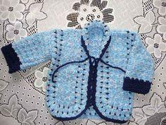 Casaquinho para bebê de 1 a 3 ,confeccionado em lã de primeira qualidade em crochê.