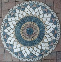 """Azulejo de mármol 32"""" Diseño Medallón de mosaico pisos de piedra 32"""" #46"""
