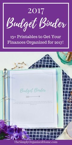 Looking for ways to organize your finances for 2017? This budget binder will more than fit the bill with 13 free printables just for you! Pop on over and grab yours!