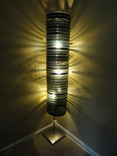 """Just finished up this filmstrip lamp. Came out better than expected!"""