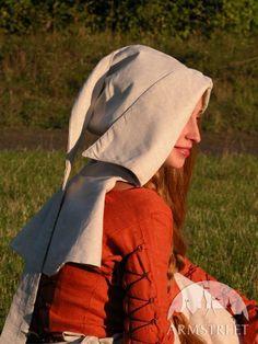 """Cappuccio medievale di lino """"Elisa dai capelli rossi"""""""