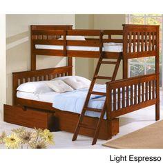 Donco Kids Mission Tilt Ladder Twin/Full Storage Bunk Bed