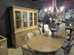 "PR Interiors Louis verlengbare Tafel in weathered oak-eik van 120 tot 300 cm met 3 verlengstukken van 60 cm elk<span style=""font-size: 0.01pt;""> PR-Rogiers-Home-Interiors-CRW/405/03 tafel-verlengbaar-verlengbare-eettafel-table-escam </span>"