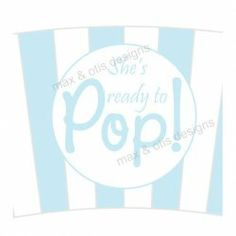 #Printable #popcorn cupcake wrapper for blue and white #babyshower themed party
