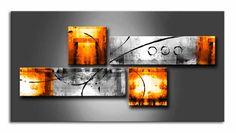 MS_001 Naranja / Cuadro abstracto naranja