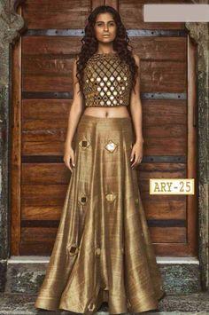 ARY- 25  Price - 2399/- shipping extra according to weight   Fabric-   Top- Bhagalpuri with  miror work  Semi stitched Lehnga - Bhagalpuri silk with and mirror   dupta - Net   Size UpTo 42  Length UpTo 42  Ready to shipping