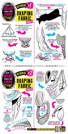 "drawingden: ""How to Draw Fabric Tutorial by STUDIOBLINKTWICE """