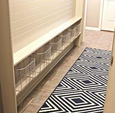 narrow hallway built-in mudroom {The Creativity Exchange}