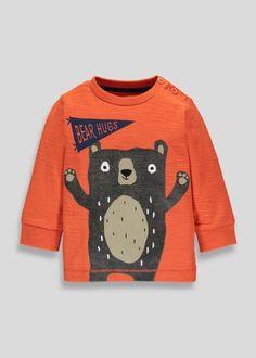 Boys Bear Print T-Shirt (3mths-5yrs)