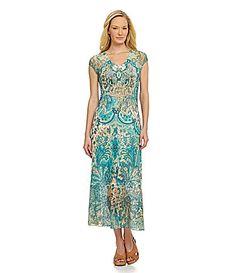 Reba Sublimation Lace Dress #Dillards