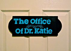 Beginning of decorating the house. Though I'm not a doctor yet people have called me Dr Katie since I got into medical school. This was super easy to make! Would be a fun project to do with your kids for their rooms