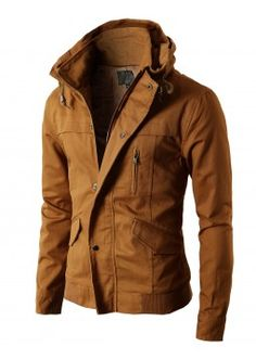 Mens High-neck Field Jackets without Hood