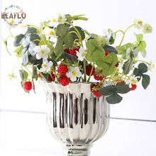 1PC Vivid Fruit Artificial Flower Fake Acrylic Strawberry Handmade DIY Mulberry For Wedding Home Party Decorative(China (Mainland))