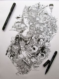 Kerby Rosanes Moleskine doodles